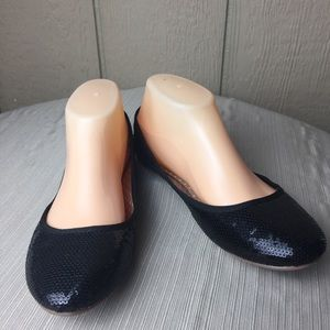 Shoes - Bolaro Black Sequence Size flats